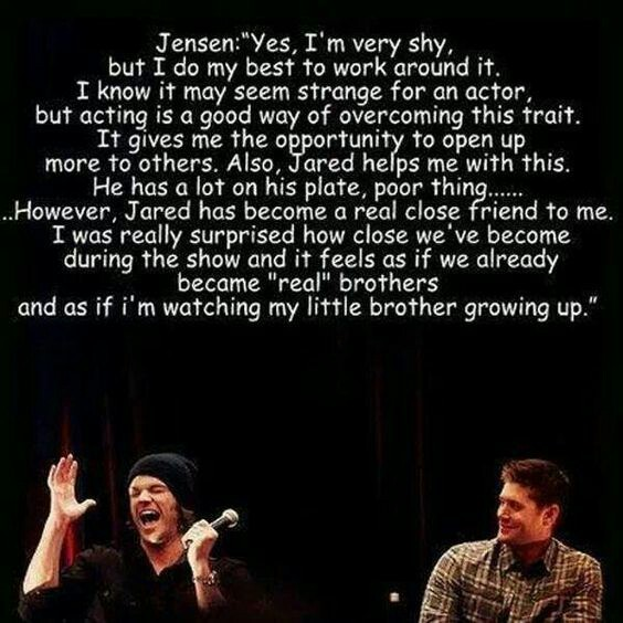 True confessions of Jensen (Dean)
