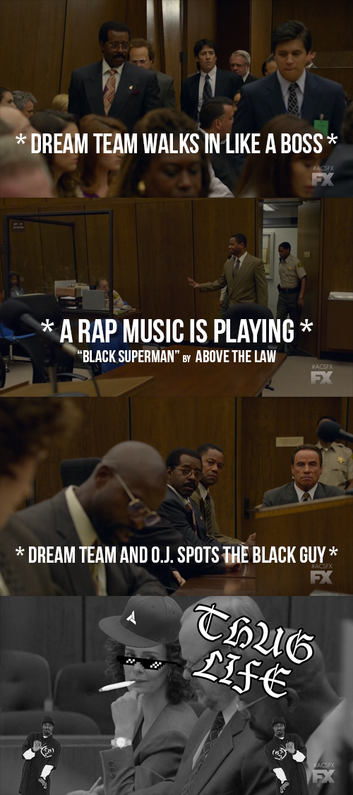 """That's how I saw the ending of this episode. Marcia delivered a big """"THUG LIFE"""" on the Dream Team. Let's see their reply...   PS: Even the music for this scene was perfect. """"Black Superman"""" by Above The Law. What better song to fit this? Irony at its finest."""