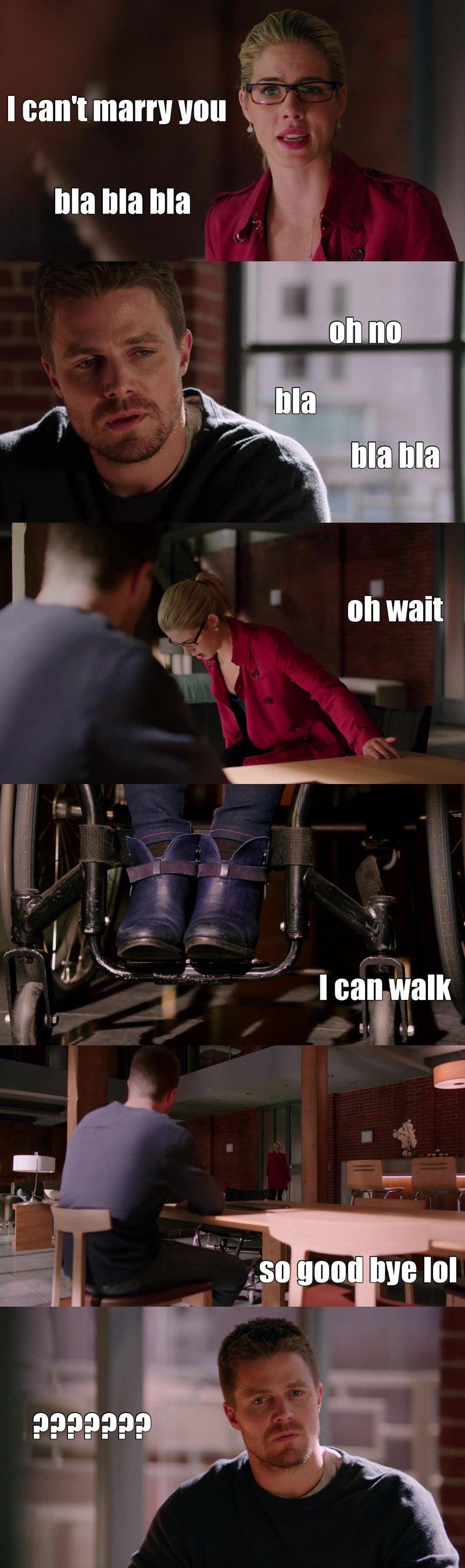 super episode franchement mais la fin est carrément lourde. Elle est pas plus choquer que ca de pouvoir marcher et direct elle s'en va sans son fauteuil c'est gros quand même