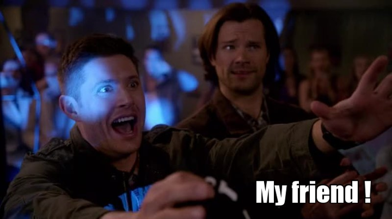 me when I talk to another supernatural fan ! 😂