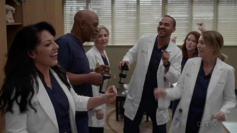 The most beautiful thing about this grey's episode is that it shows that in life you can dance even when music is not playing but just because you're happy