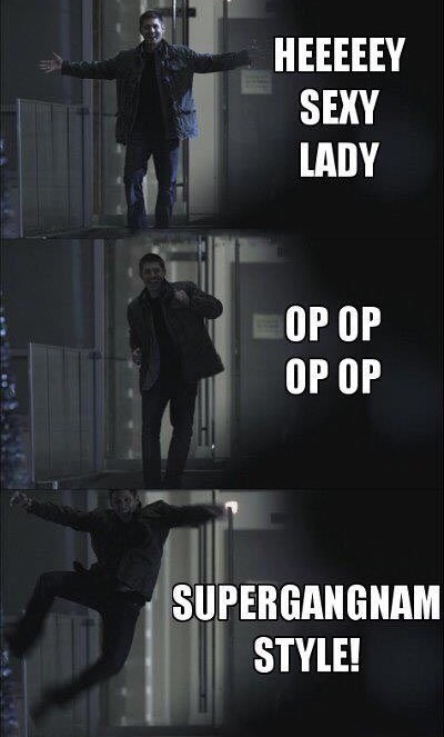 😂😂 Supergangnam style !!