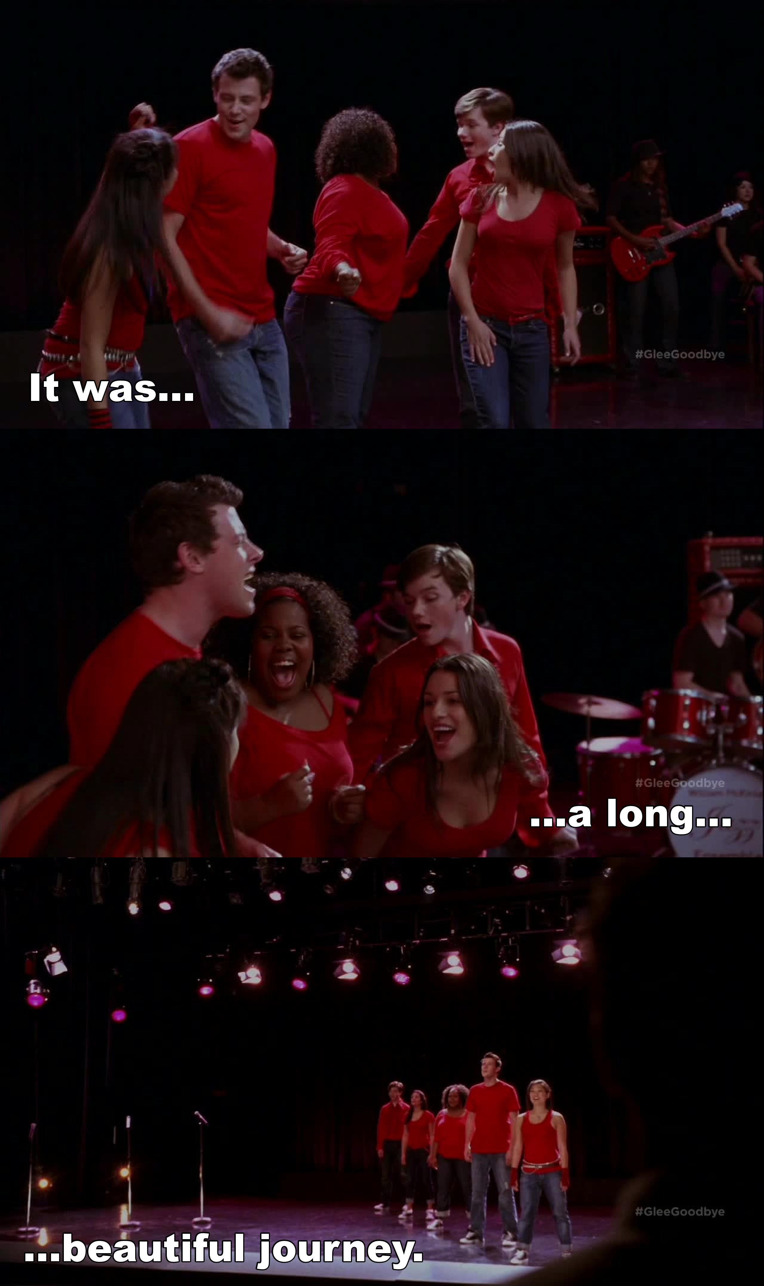 """This episode bring back so much memories. I will never forget """"Don't stop believing""""."""