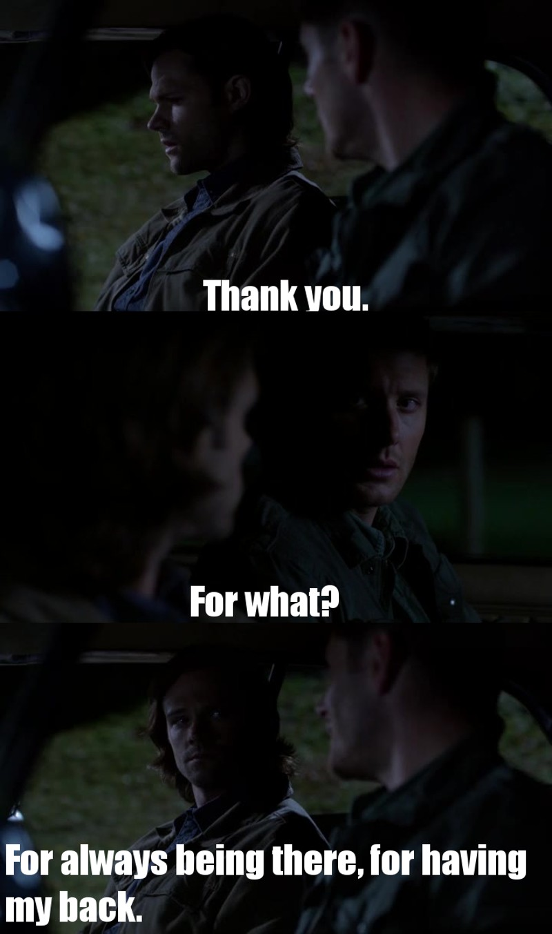 Dean would do anything for his little Sammy