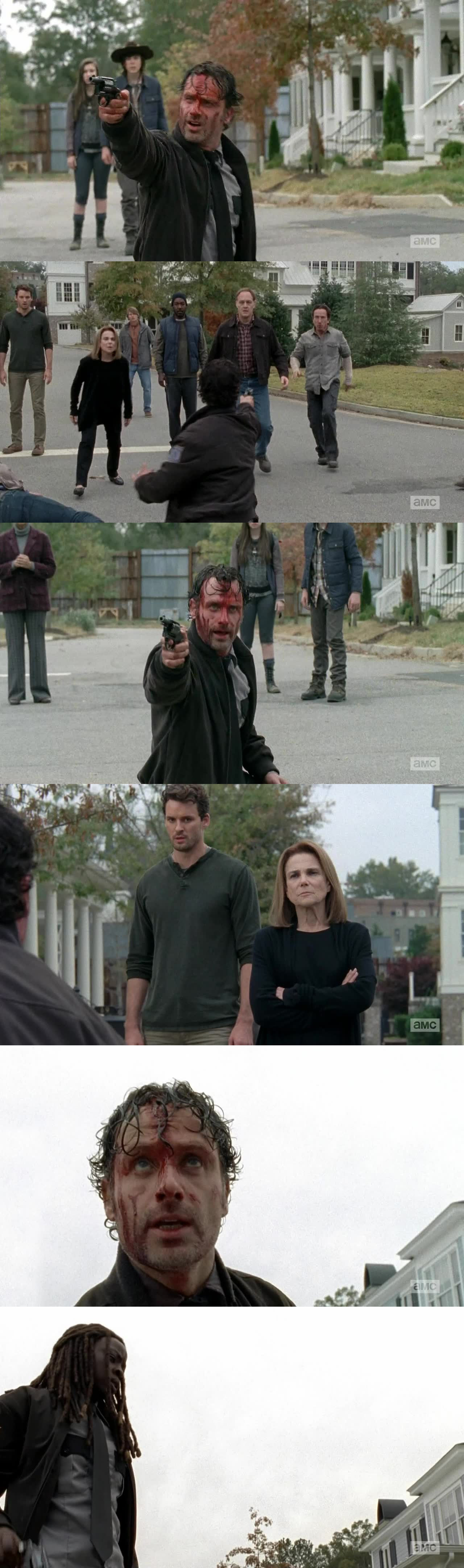 Those last 15 minutes were pretty intense. I honestly thought someone was gonna get shot, in those last few minutes. Specially thought maybe Sasha would shoot someone from that tower. Can't wait for the next episode. Excited to see what will happen. I am sure someone will die. Which worries me. Next week better come quick!!