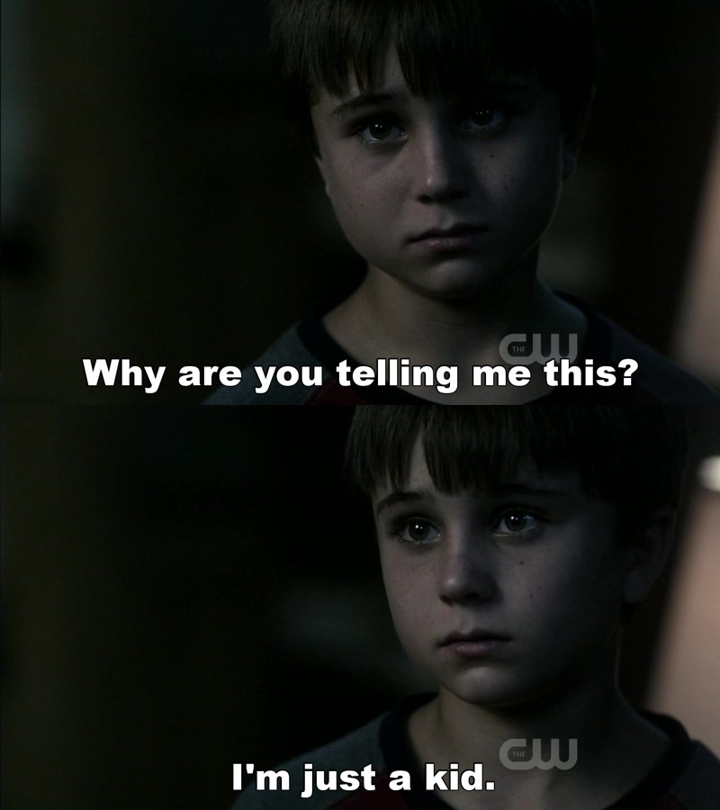Poor kid.  He's awesome, but I feel bad for him :(
