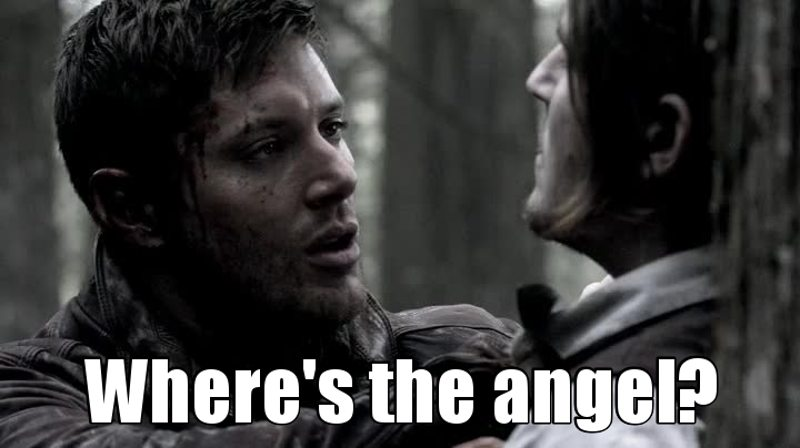 When Misha's name is not in the opening credits: