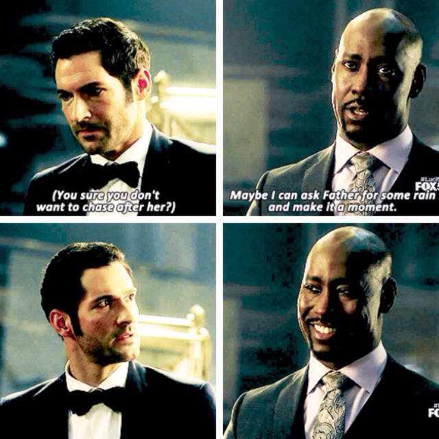 Okay, I am all about AMENadiel and Chloe flirting just to tease Lucifer jfc 😂