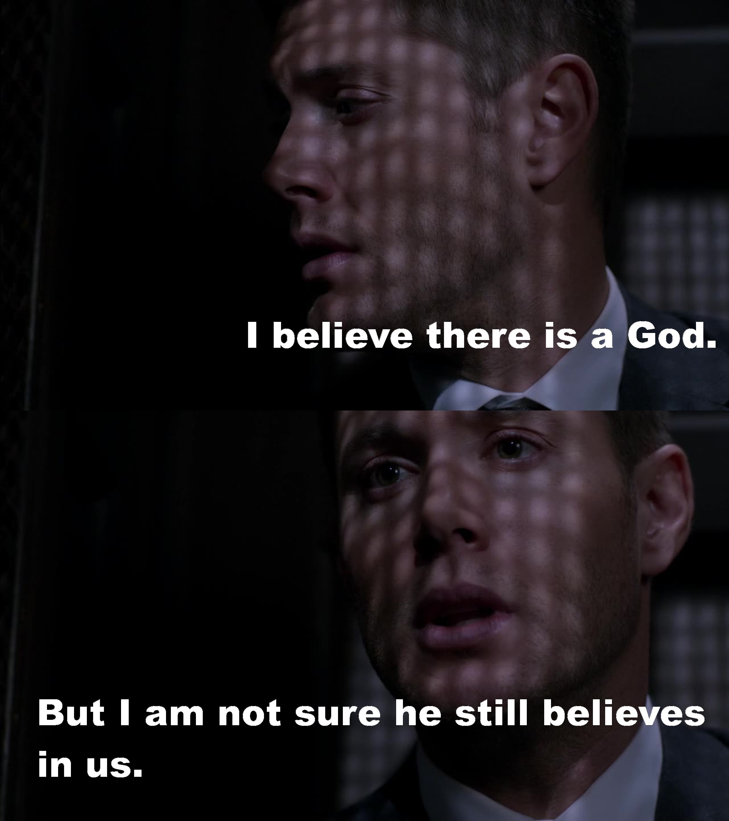 I loved Dean's speech. Jensen is amazing. I could feel Dean's pain and now my heart is broken.