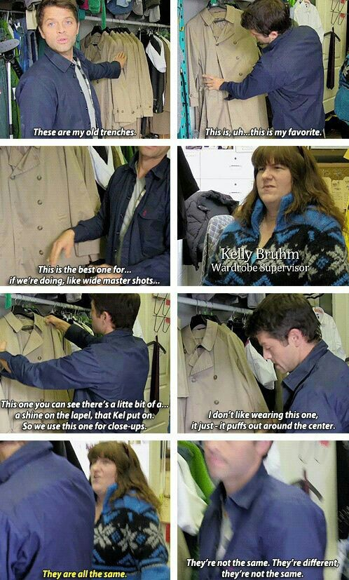 Bring back Castiel's old Trench Coat. They're not the same. 😞
