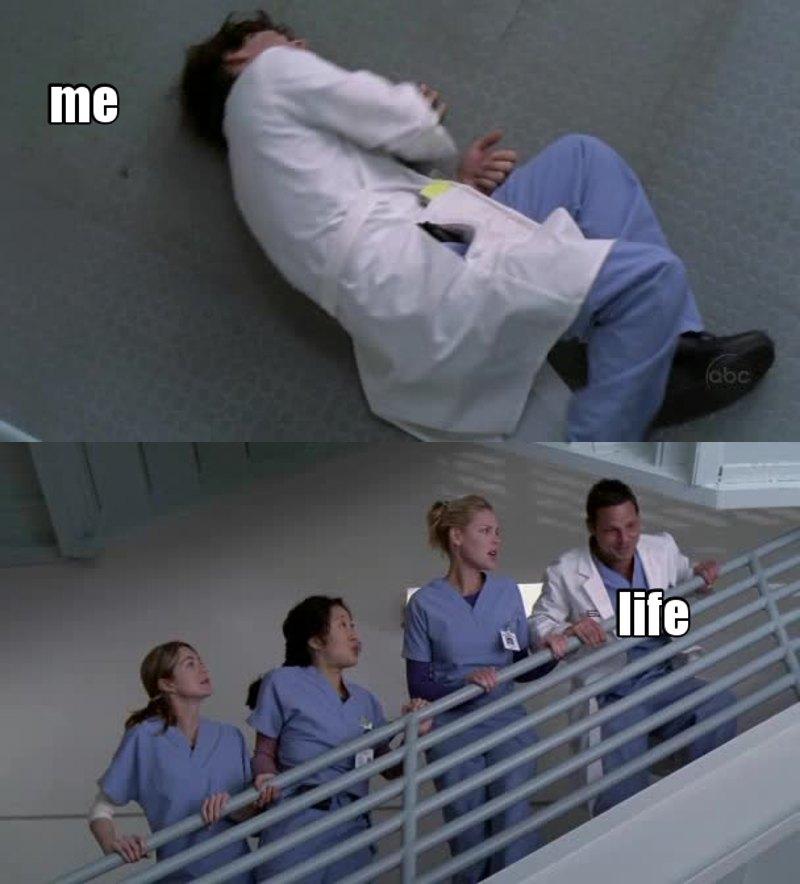 Eu sou o George e o Alex é a vida rindo de mim..