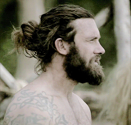 lets take a moment to appreciate shirtless rollo with a man bun