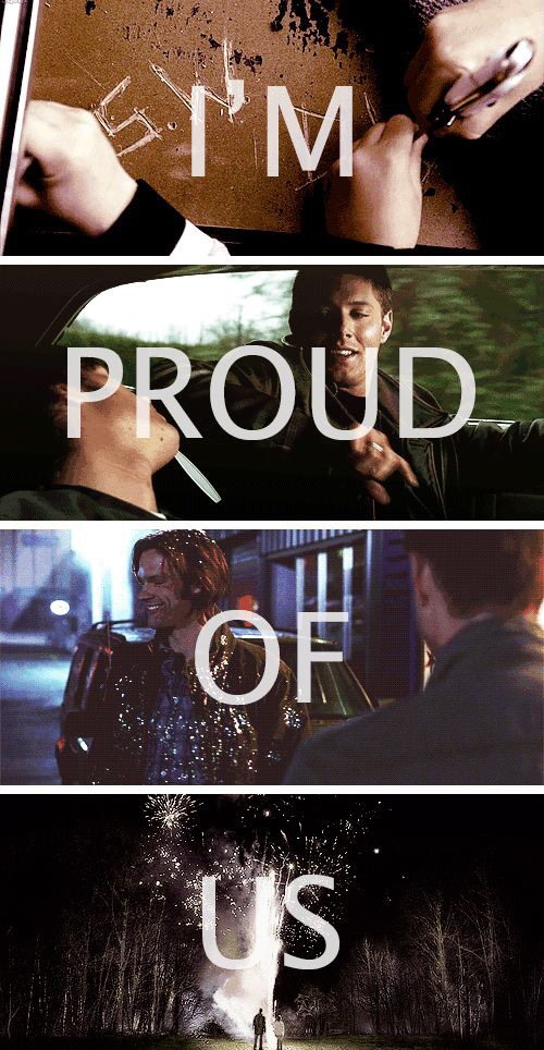 "This ep was amazing !!! What an end, Dean becoming a demon 😲😳 !?!   Season 10 is gonna be really wow I think.   "" I'm proud of us "" ---------------------------"