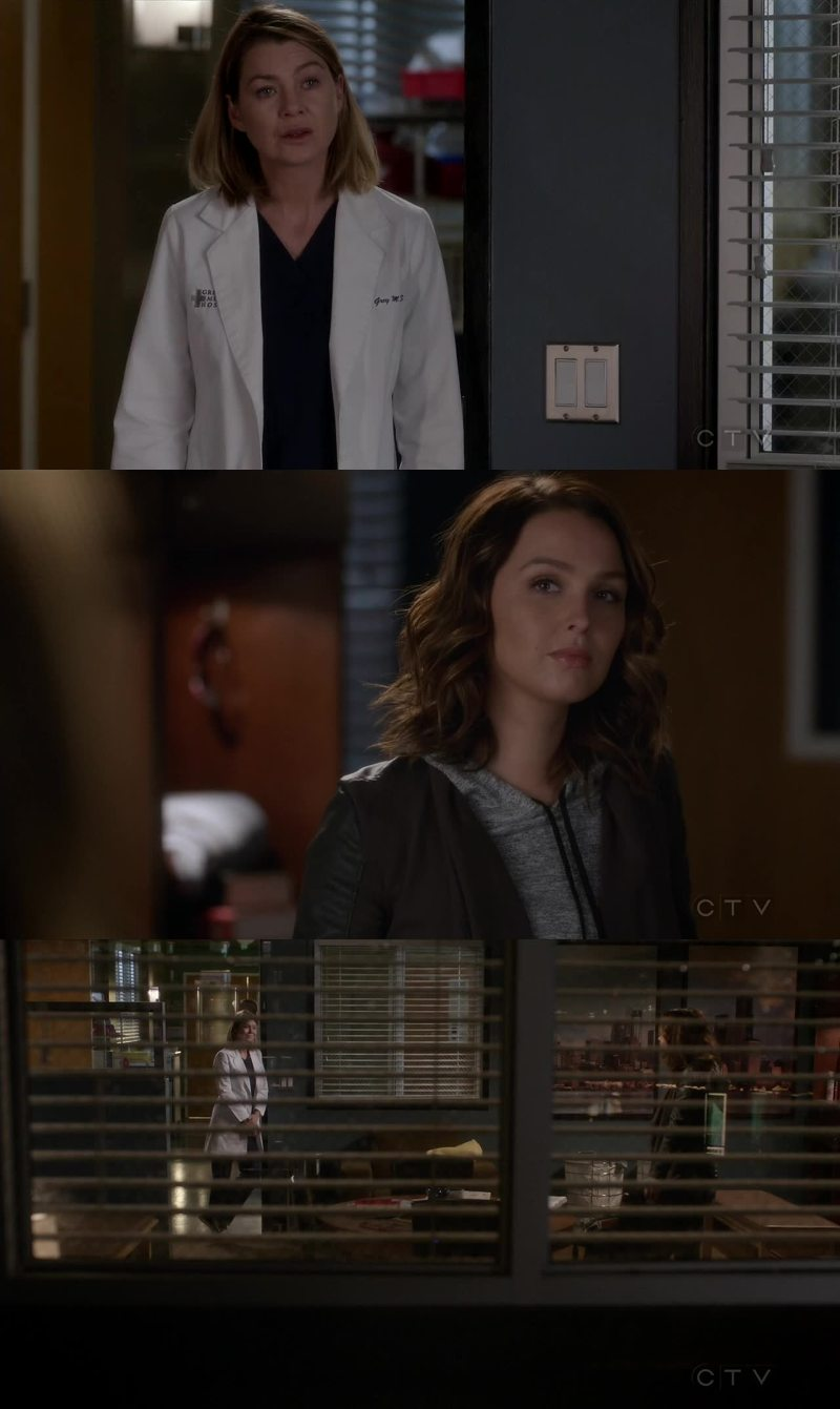 """And for the record, I'm rooting for you to stick"" Meredith standing up for Alex was so sweet, their friendship is the best !"