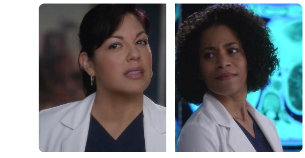 "Callie & Maggie's faces when Meredith says ""I like Wilson."" 😂😂"