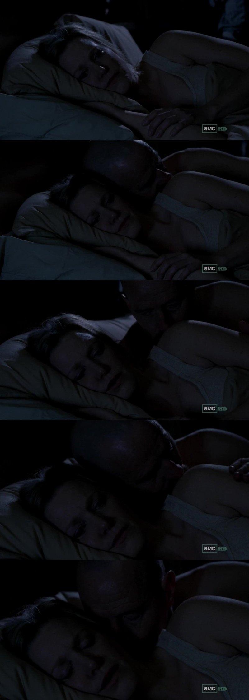 Skyler is afraid of Walt. That last scene was weird.
