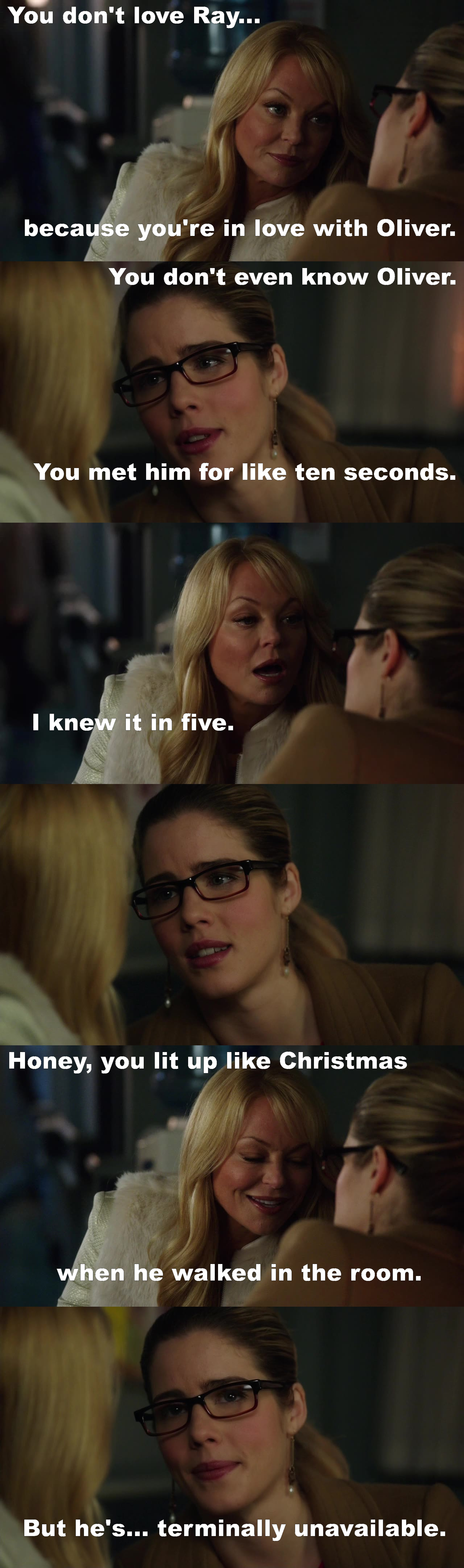Mama Smoke knows best.  She is the number 1 Olicity shipper!!