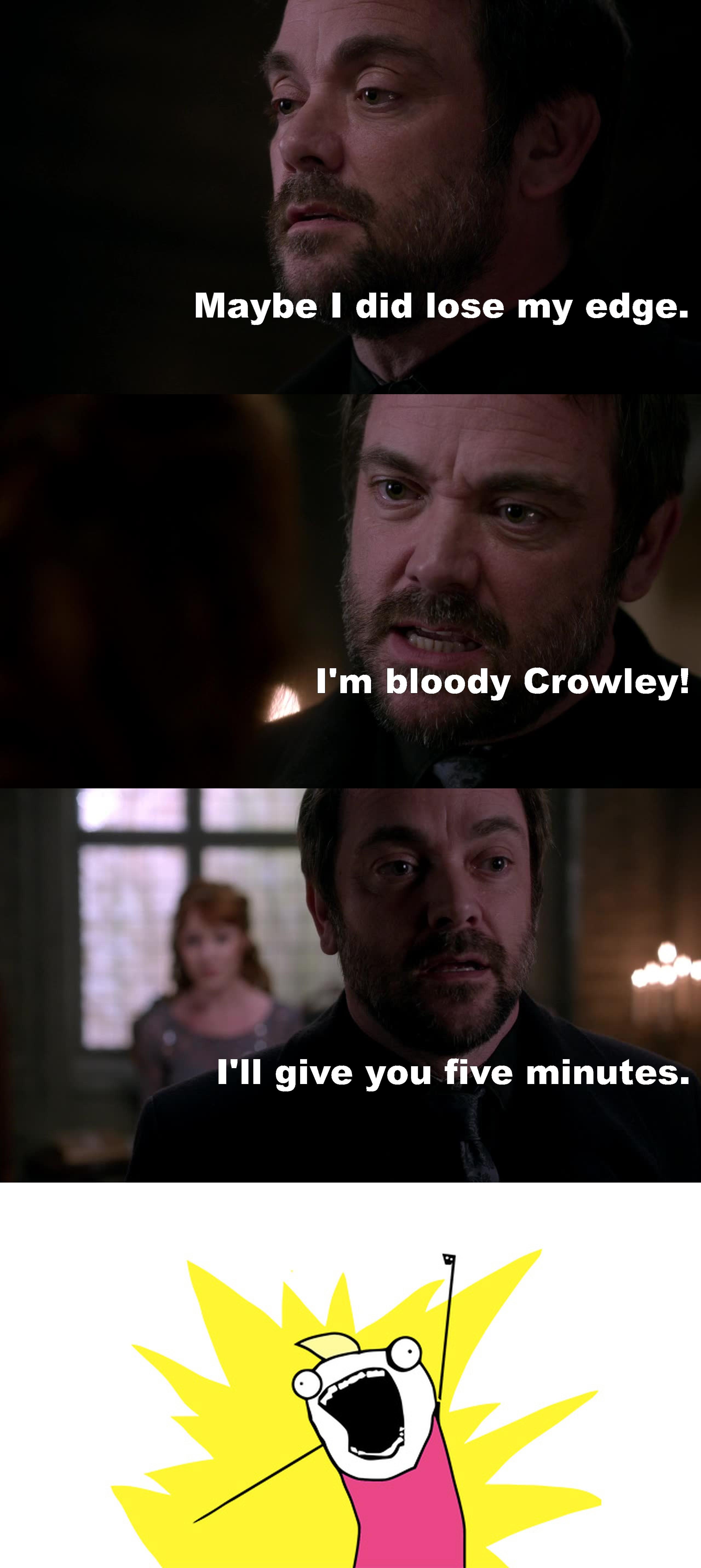 Badass Crowley is the best Crowley