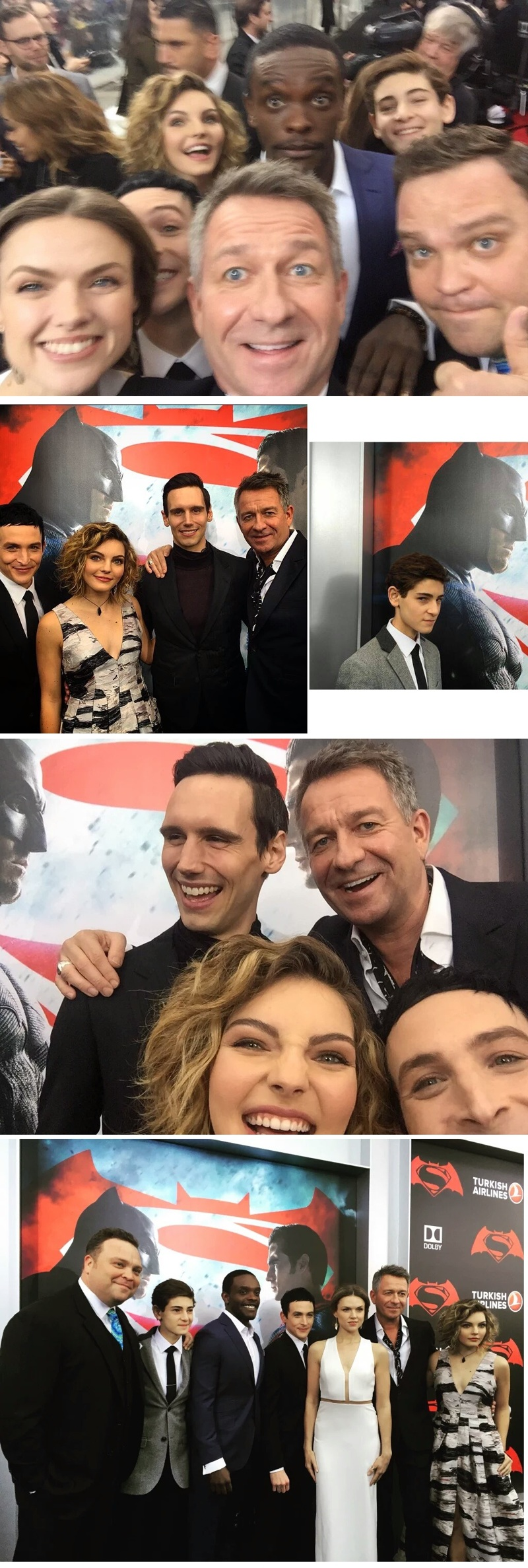Gotham's cast to the premiere of Batman v Superman! Our heroes are insanely beautiful!