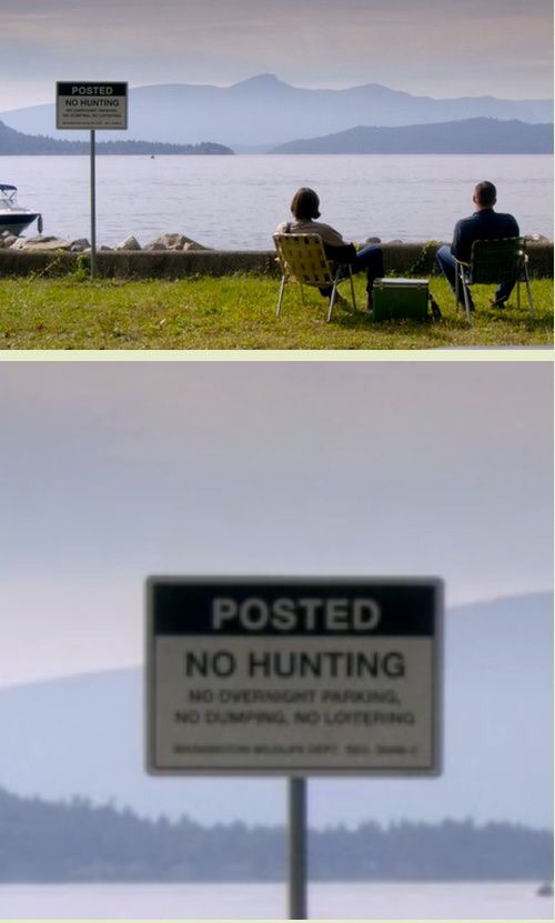 well ... they really choose the right spot  no hunting guys