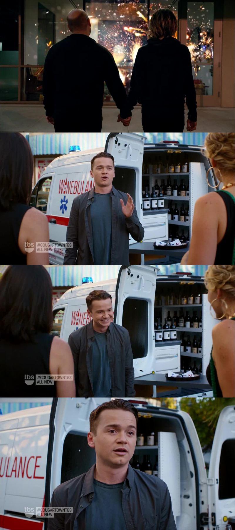 J'ai bien aimé la relation du couple Ellie/Andy dans cet épisode. Sinon, la Vin-Bulance c'est une bonne idée ! Lol
