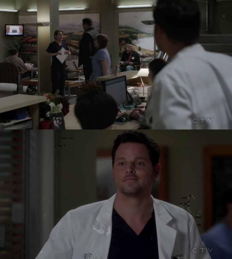 Alex keeping an eye on Mer is way too cute.