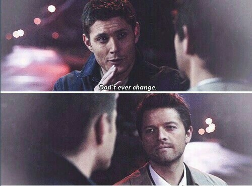 Destiel is more real than my own existence. I love this scene