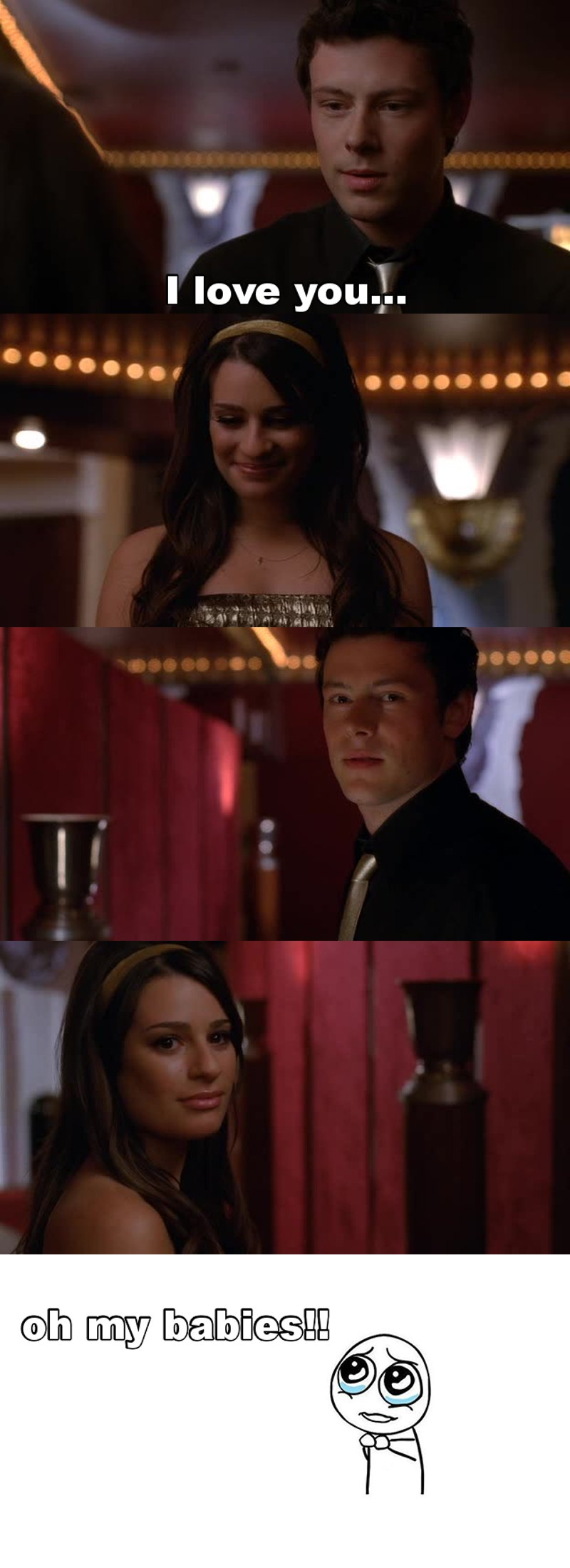 """Finally!!!😍😍 Finchel is back! She kissed him He said """"i love you"""" And the way who they look each other 😍 This is Love 💜"""