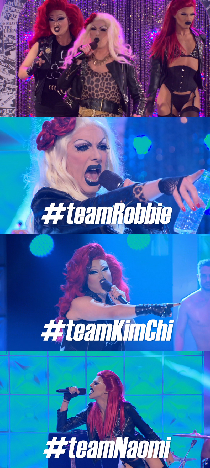 SLAY BITCHES!! ♥ #teamRobbie #teamKimChi #teamNaomi