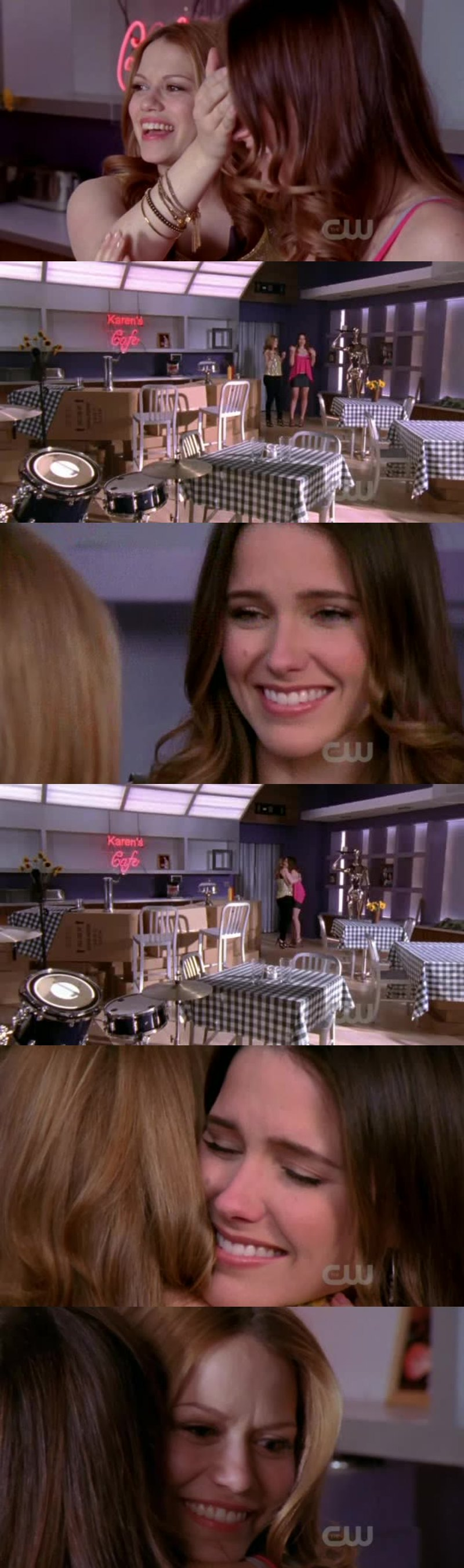 Karen's Café coming back and Haley's and Brooke's friendship, this is just perfect