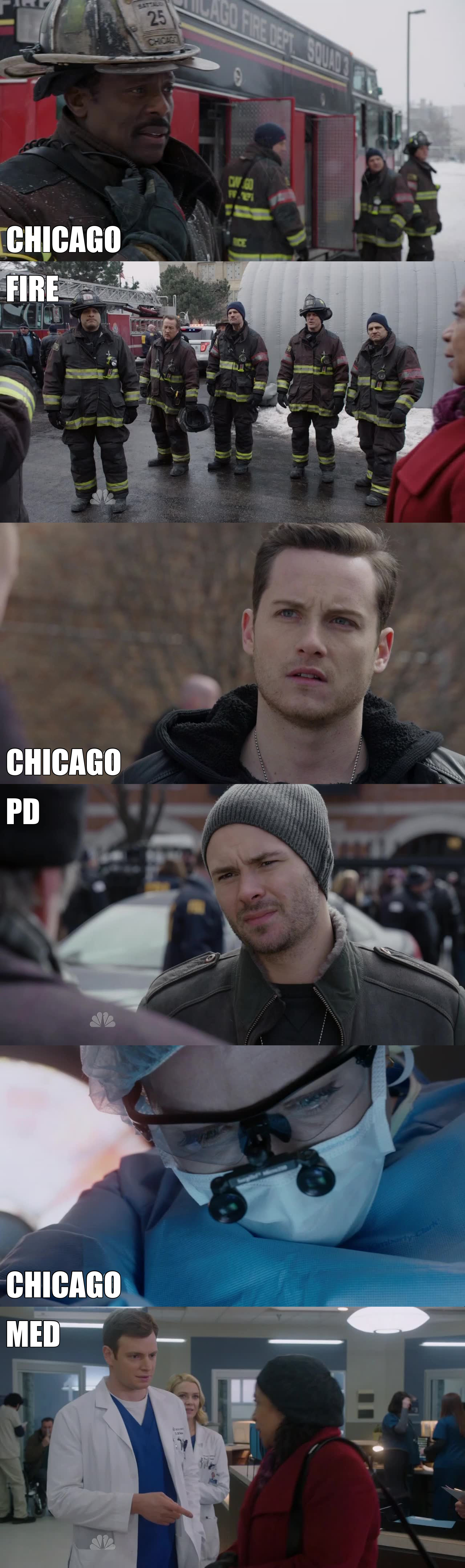 this episode was perfect ! So intense ! Can't wait to see more Chicago Fire, Chicago PD, and Chicago Med episodes !!