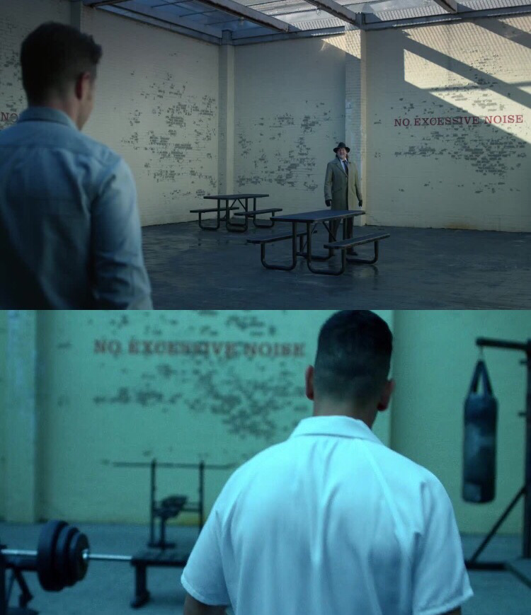 I'm the only one who noticed that was exactly the same place of Daredevil? It's pretty evident if you look at those marks under the tag on the wall...