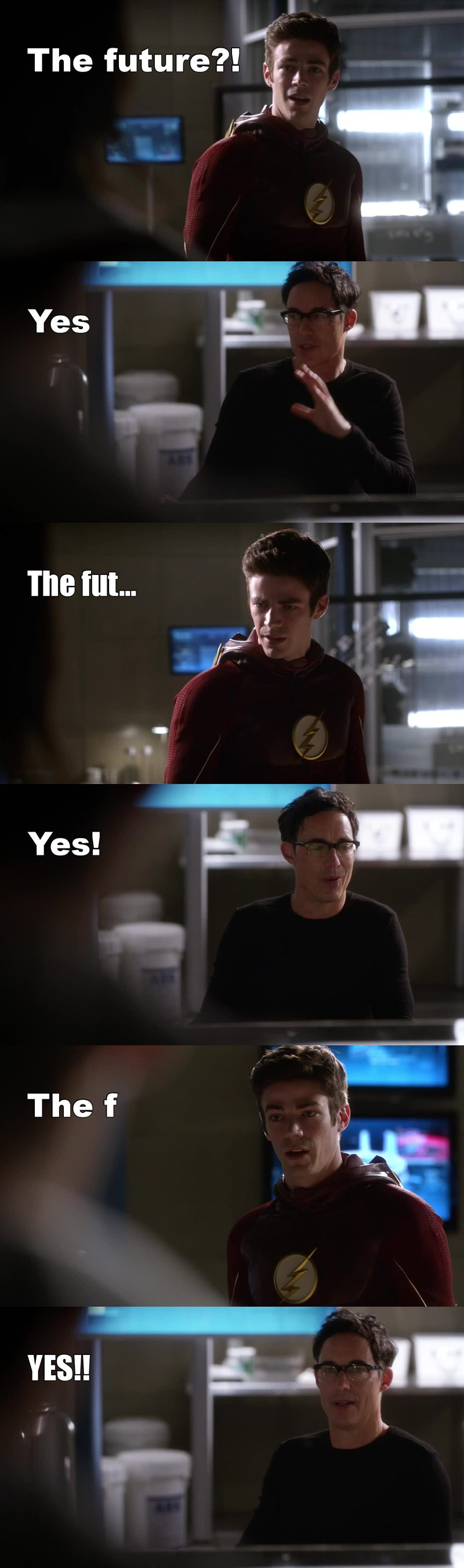 I laughed so much 😂 Gotta love scenes with Barry & Dr Wells