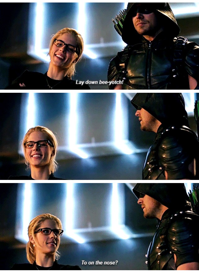 Everyone was so good in this episode!! Hands down the funniest, most light-hearted Arrow episode ever!! My favorite bee pun has to go to Felicity. 👍🏻