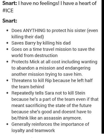 Snart is really the best character of the show