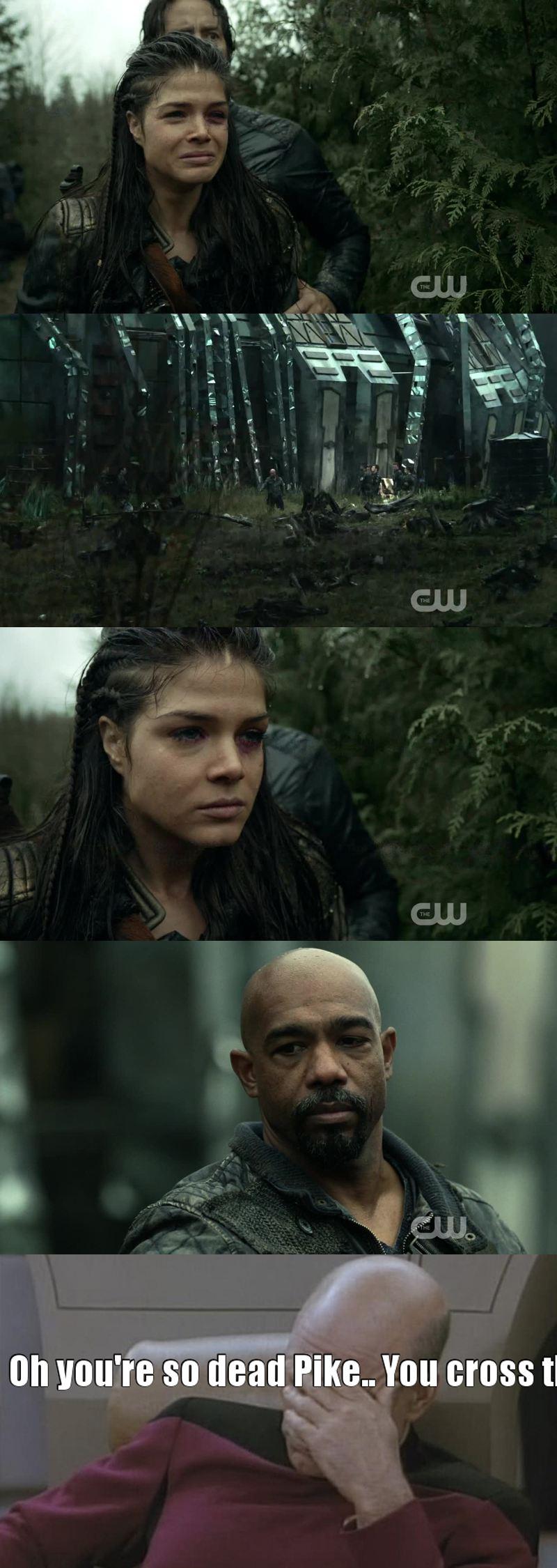 La manière dont Octavia a mis de côté radicalement ses émotions à la vue de l'execution de Lincoln est juste parfaite.  Pike t'es mort.