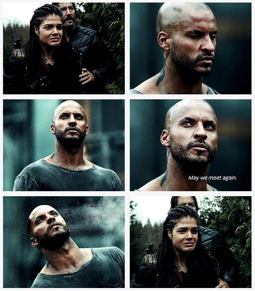 """RIP Lincoln, """"May we meet again"""". Il aura protégé son peuple et Octavia jusqu'au bout !"""