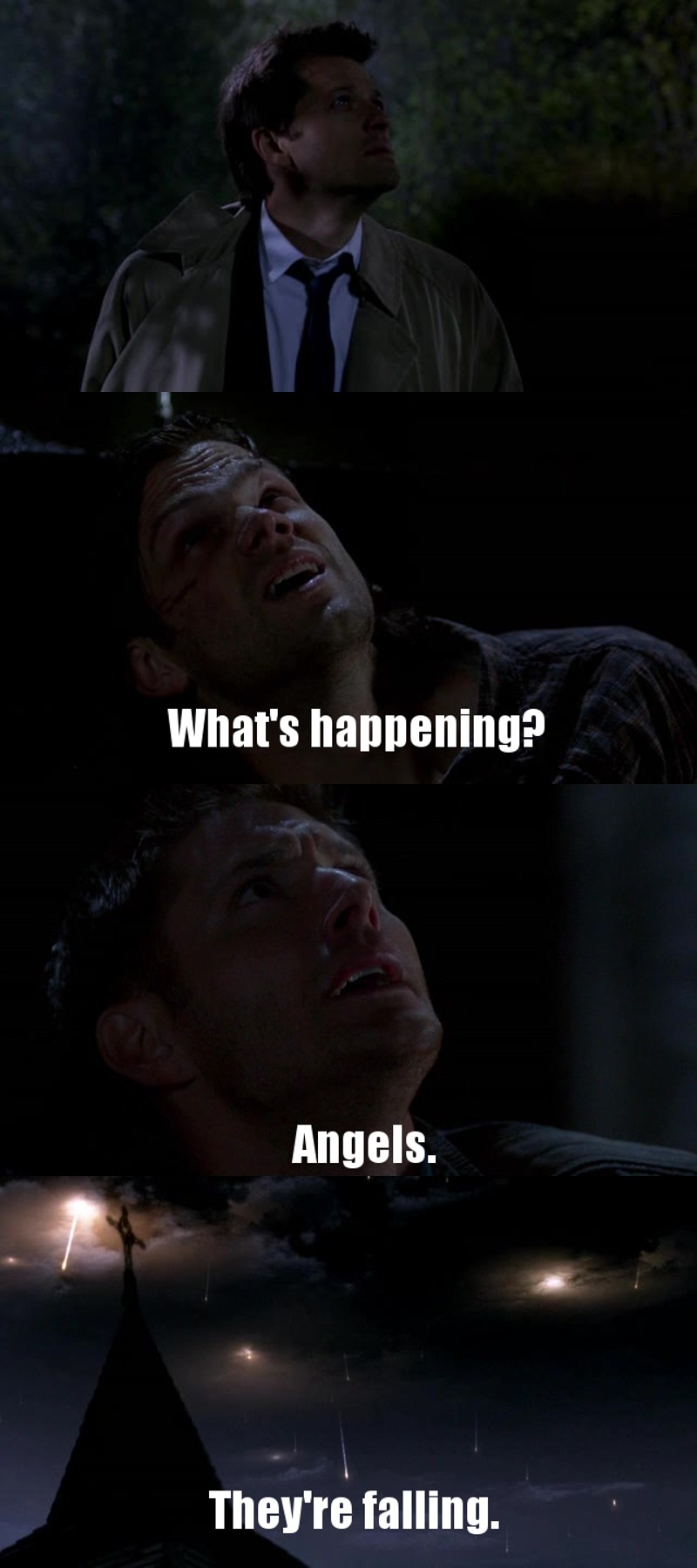 What an episode.Plot twists,deaths and almost deaths.Who thought that Metatron  was a bitch and Naomi really wanted to help.Crowley shows his good side,Sammy is willing to sacrifice himself,Dean confesses to Sam,Cas  is sent to earth and millions of angels falling on earth.This show is freaking awesome!