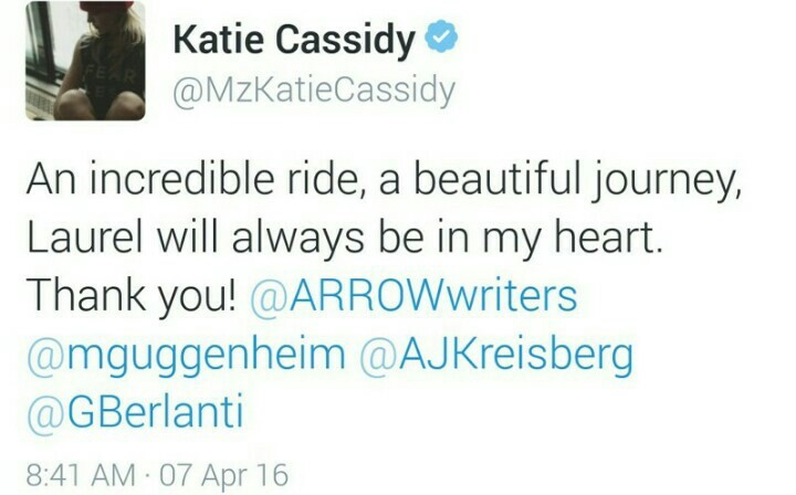 Laurel will always be in my heart. Thank you, Katie! 😕😕😕😑