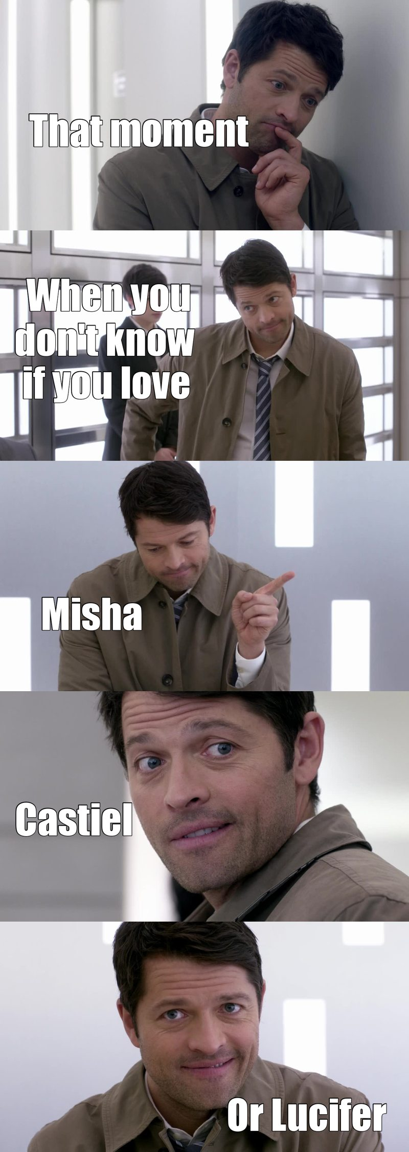 I am so confused, Misha is an amazing actor, I didn't know who vote for the best character of the episode