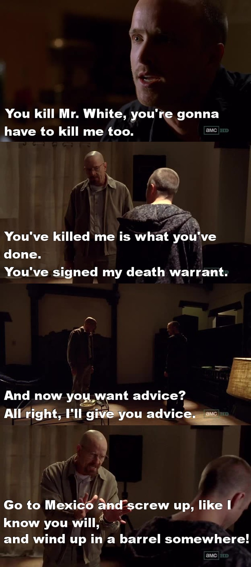 Jesse would do anything for Mr. White, while Walt is just an asshole sometimes. I hate how he treated Jesse :(