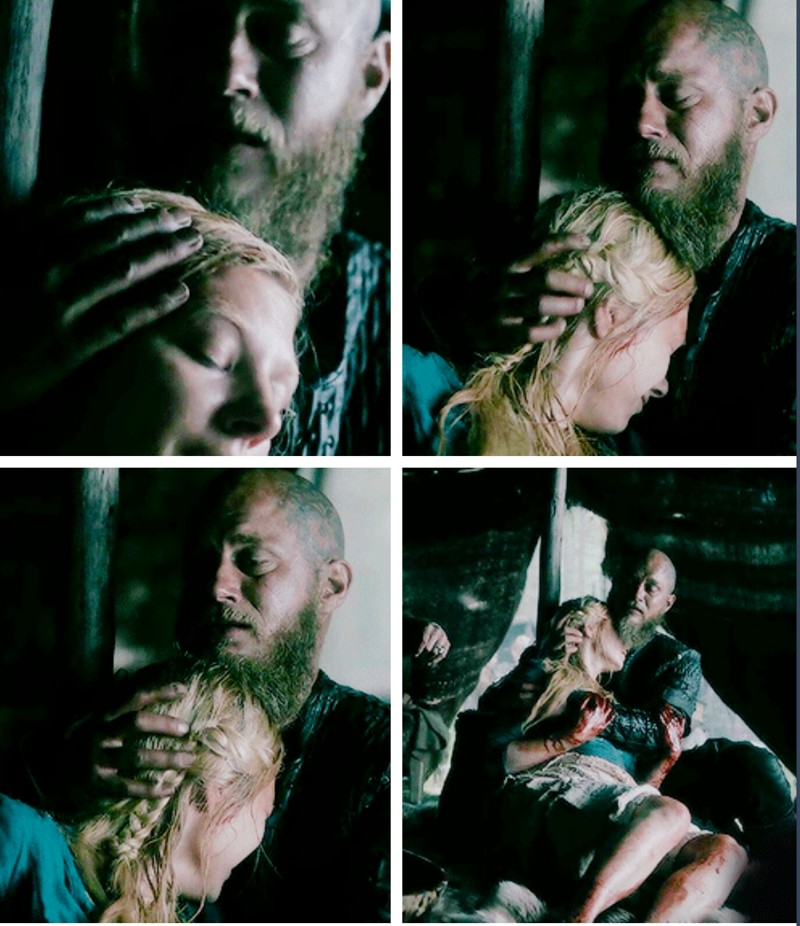 "Lagertha: ""I was hoping that I could cheat the Fate"". Ragnar: ""Shh. It's all right"".   FIRST TRUE LOVE DON'T EASILY DIE. I still have hope they'll get back together."