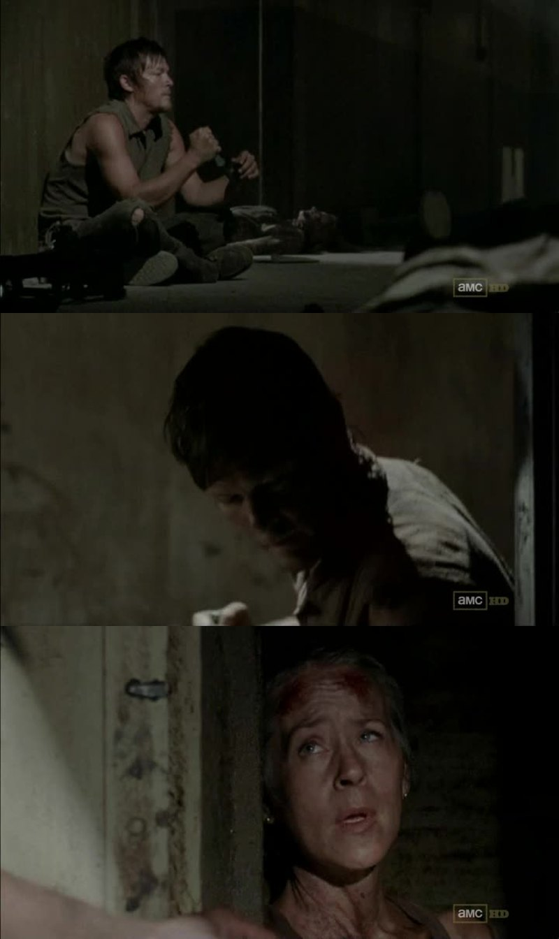 LOOK AT HIM! Heartbroken and devastated, how can one not love Daryl?
