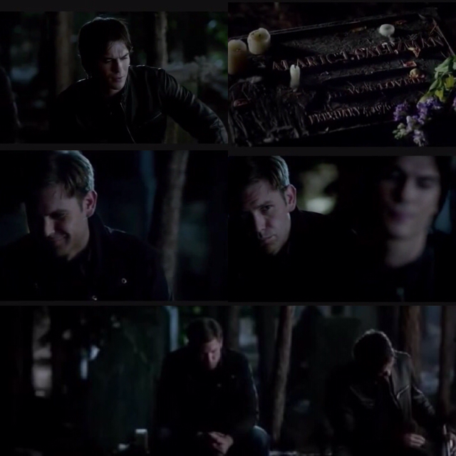 "Where is this? Where is all the love they used to feel for each other?  I miss Dalaric so bad.  ""What difference does it make? Because in the end, when you lose somebody, every candle, every prayer is not gonna make up with the fact that the only thing that you have left is a hole in your life where that somebody that you cared about used to be. And a rock with a birthday carved into it that I'm pretty sure it's wrong. So thanks, friend. Thanks for leaving me here to babysit. [...]""  ""I miss you too, buddy."""