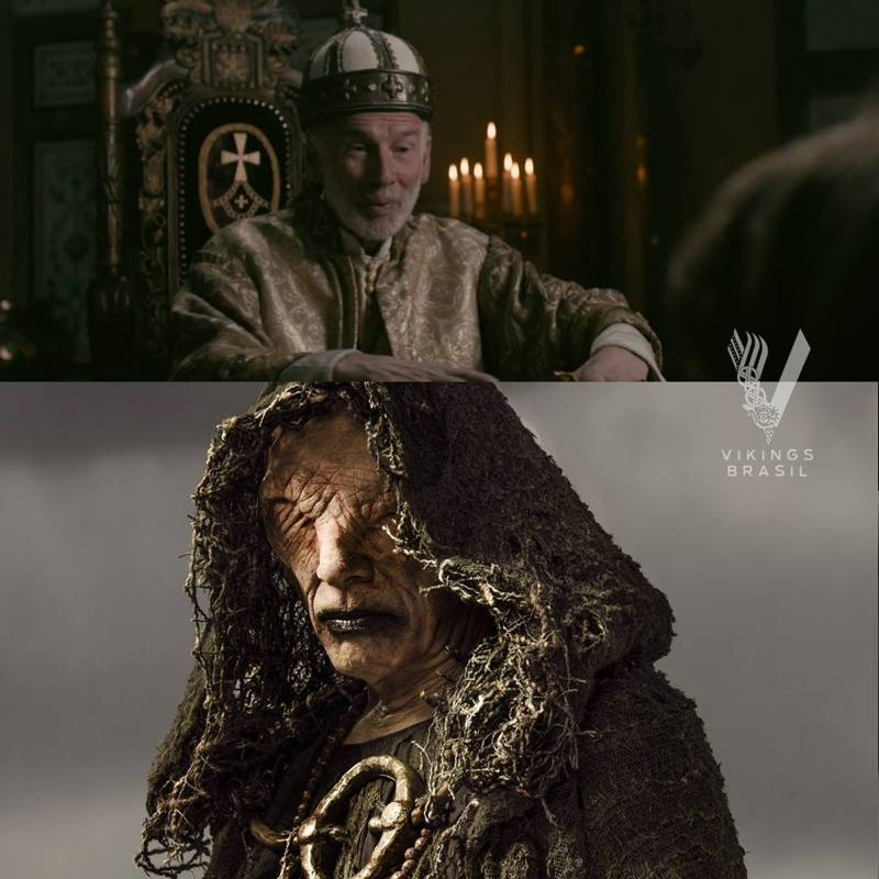 Just out of curiosity: John Kavanagh, the actor who plays the Seer in Kattegat, played the Pope on this episode.