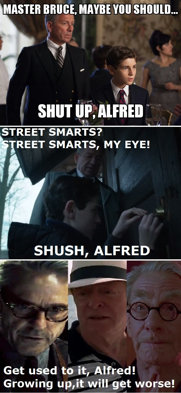 Poor Alfred!  He loves Bruce too much!