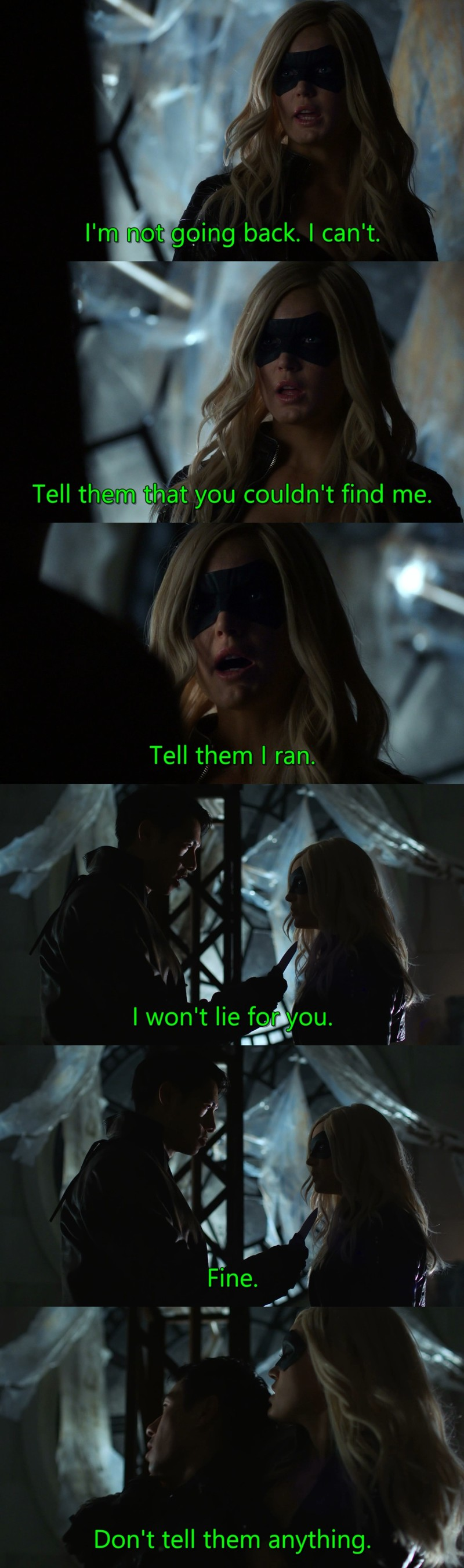 """My new favorite character! If she will be a regular in this show, then I can live with Arrow being """"toothless"""" hero."""