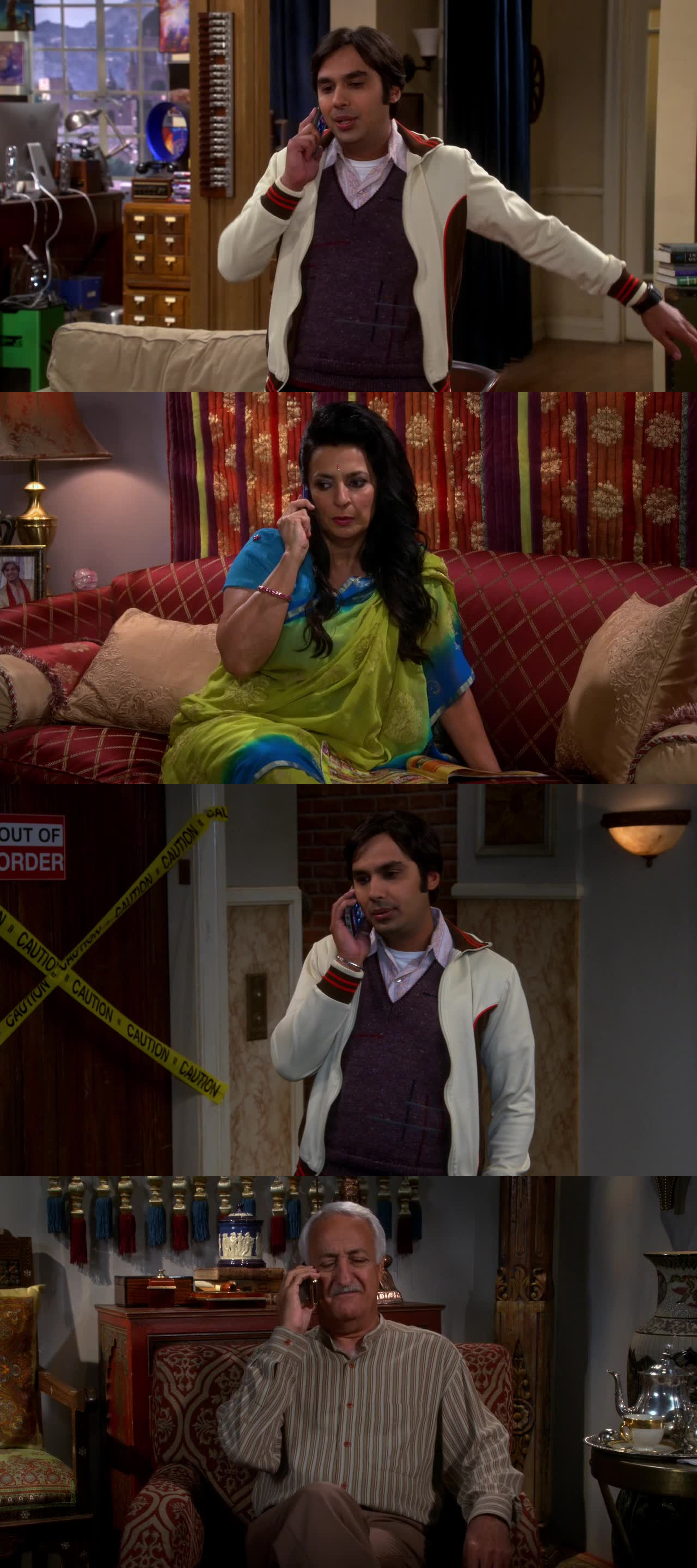 Raj manipulating his parents to give him money was the best and funniest part