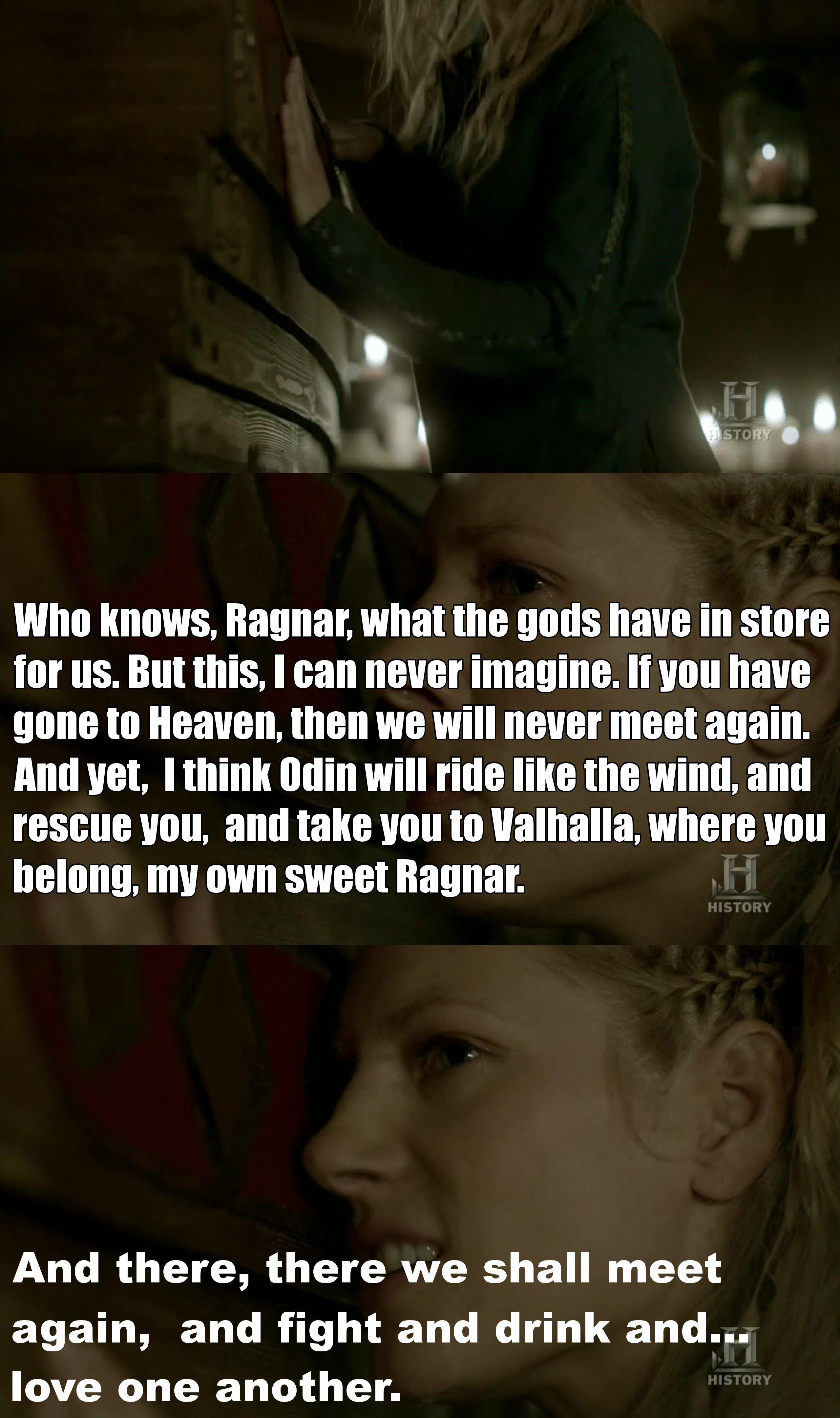 Lagertha ! you gave me the chills in this scene !