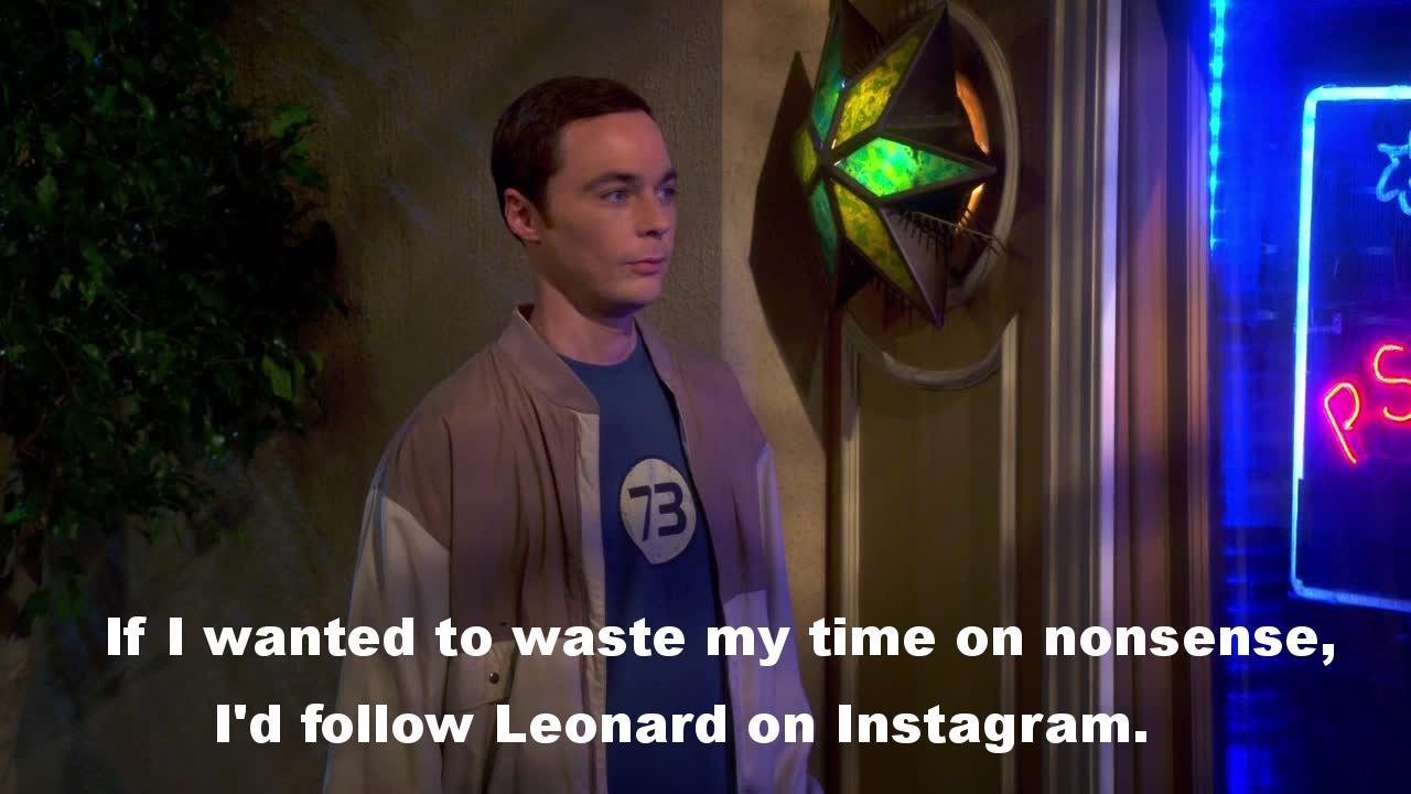 Me parto con Sheldon con perlas como estas: